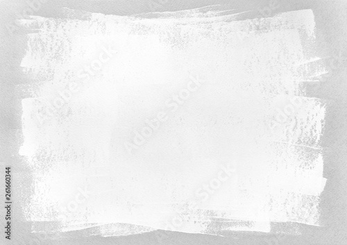 hand painted blank frame on grey paper background - fototapety na wymiar