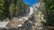 Vernal Falls In Yosemite Natio...