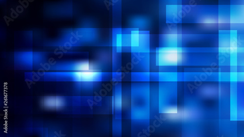 Photo Abstract Black and Blue Modern Geometric Shapes Background