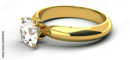 Solitaire ring Slika na platnu