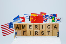 America First Wording With USA...