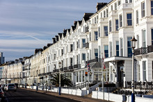Seafront Terrace, Eastbourne, East Sussex, England, UK.