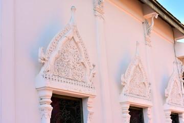 The beauty of Wat Phra Borommathat Chaiya And the old Buddha image At Surat Thani, Thailand