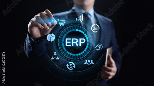 Fotografie, Obraz  ERP Enterprise resources planning system software business technology