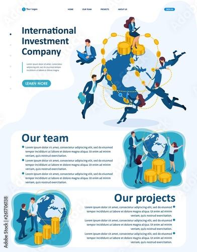 Isometric International Investment Company Wallpaper Mural