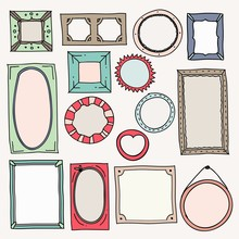Sketch Color Frames. Vintage P...
