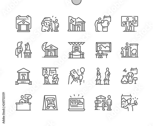 International Museum Day Well-crafted Pixel Perfect Vector Thin Line Icons 30 2x Grid for Web Graphics and Apps. Simple Minimal Pictogram Wall mural