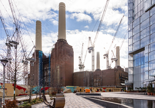 Ongoing development works of Battersea power station Canvas Print