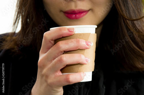 Fotografie, Obraz  飲料を飲む女性