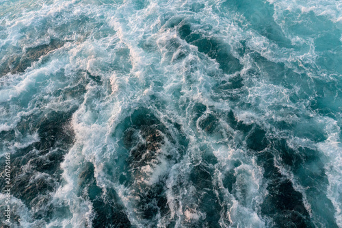 Stickers pour porte wavy water on the sea