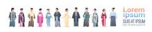 Set Asian Men Women Wearing Tr...