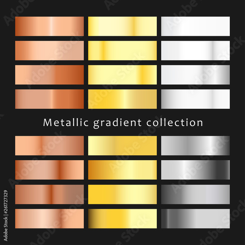 Valokuva  Set of different metals gradients