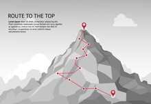 Mountain Route Infographic. Jo...