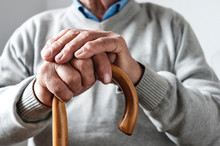Hands Of An Elderly Man Restin...