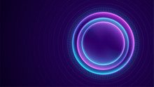 Neon Circle With Dots Light Ef...