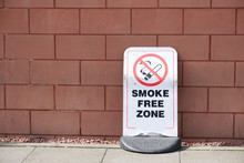 Smoke Free Zone Sign Outdoors ...