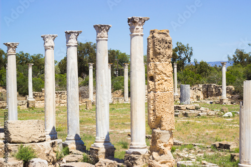 Fotografia  North Cyprus. Antique city of Salamis. View of the ruins