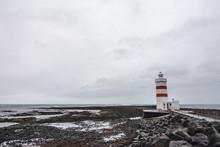 Icelandic Lighthouse On The South Of Reykjavik, Iceland
