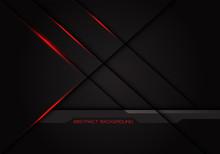 Abstract Red Light Cross Line Shadow On Dark Grey Design Modern Luxury Background Vector Illustration.