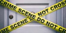 Crime Scene. Warning Yellow Ta...