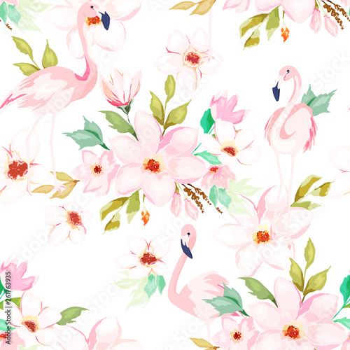 Photo Summer seamless pattern