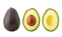 Avocado, Clipping Path, Isolat...