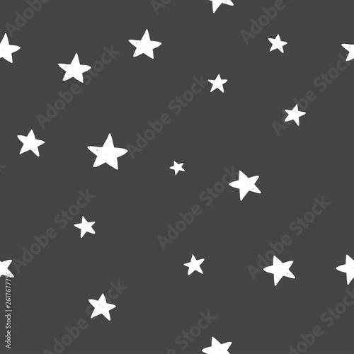 Türaufkleber Künstlich Hand drawn cute vector seamless star pattern, vintage, retro, wedding, greeting card, web template, wallpaper, pattern for kids, baby apparel, fabric, textile, wallpaper, bedding, swaddles, pyjama