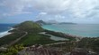 Landscape view of the Caribbean Sea and Atlantic Ocean looking south of St Kitts
