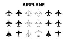 Big Set Of Airplanes. Plane Ic...