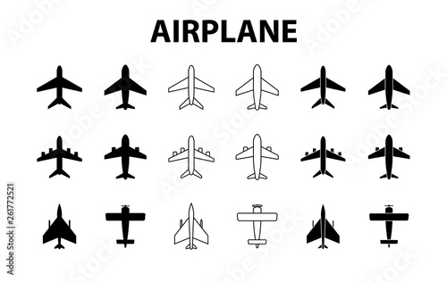 Big set of airplanes Canvas Print