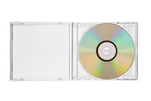 Jewel Case With Compact Disc Isolated