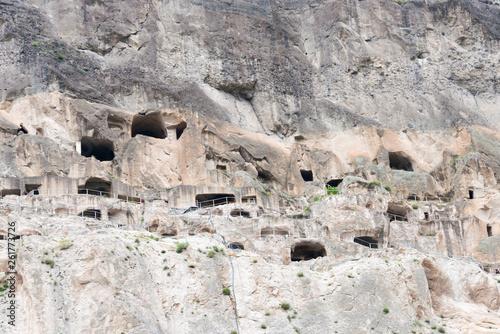 Fotografia  Vardzia, Georgia - Jul 14 2018: Vardzia Cave Monastery complex and ancient city