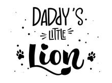 Daddy's Little Lion Hand Draw ...