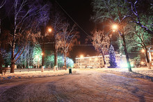 Night City Winter / Landscape ...