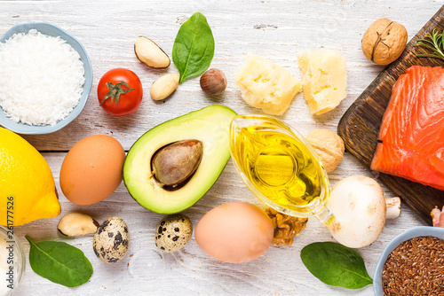 Healthy food low carb keto ketogenic diet Wallpaper Mural