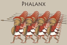 Cartoon Ancient Greek Phalanx