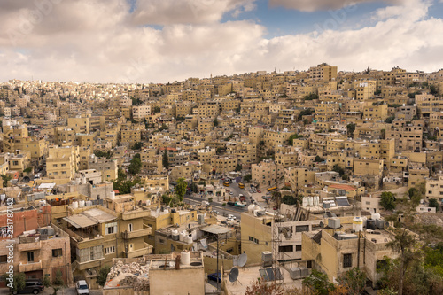 Aerial view of Amman City Canvas Print