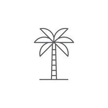 Palm Tree Vector Icon Flat Sty...
