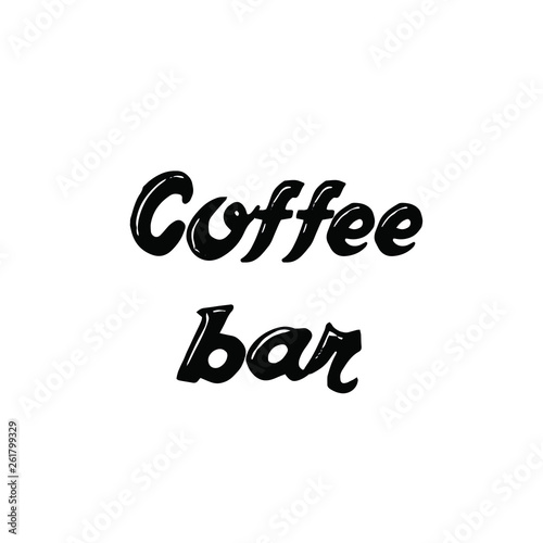 calligraphy saying for print vector quote coffee bar buy this