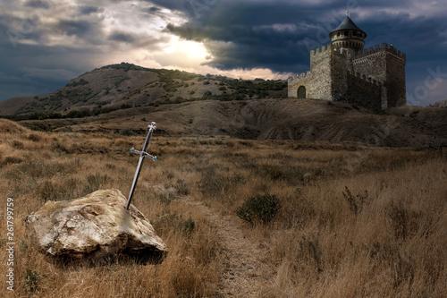 sword of King Arthur Canvas Print