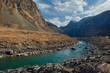 Russia. Mountain Altai. The valley of the Chulyshman river flows into Teletskoye lake.