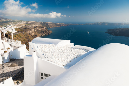 Foto auf AluDibond Südeuropa White architecture on Santorini island, Greece.