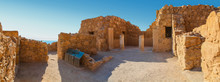 Panoramic View Of The Ruins Of A Home With Columns In Masada