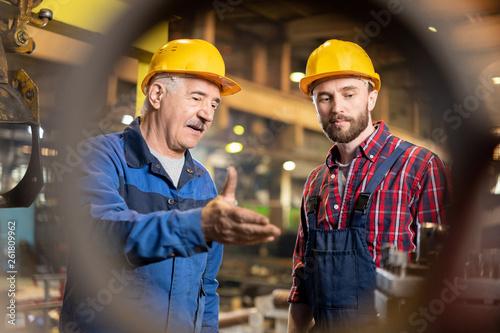 Fotografia  Service of industrial machine