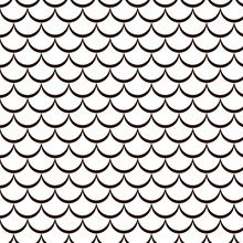 Scales Of Fish, Vector Pattern