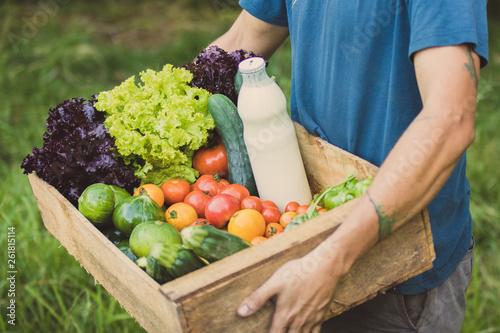 Photo  caisse de légumes