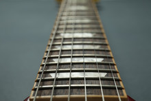 Electric Guitar Neck On Dark B...