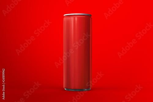 Photo  Aluminum can mockup on background