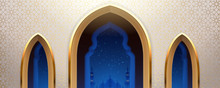 Arab Mosque With Windows Or Ar...