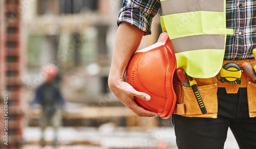 Construction worker Fototapete